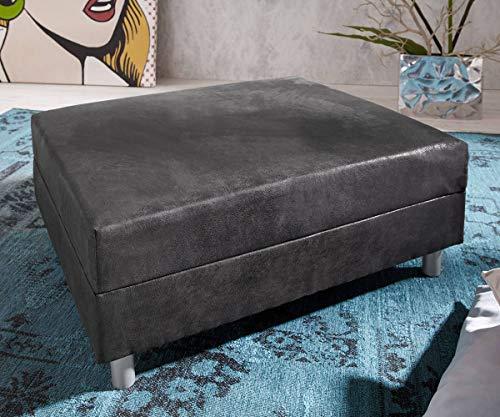 DELIFE Sofa-Hocker Clovis Anthrazit Modul B98 x T83 Microvelours Sitzhocker
