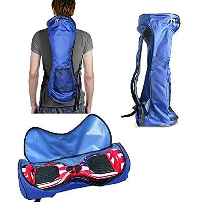 "GameXcel Self-Balancing Scooter Carrying Backpack Bag for 6.5"" 7"" and 8"" Two-Wheel Hover Board Bag Smart Balancing Scooters Storage Mesh Pocket Adjustable Shoulder Strap Blue"