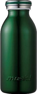 水筒 真空断熱 スクリュー式 マグ ボトル 0.35L ダークグリーン mosh! (モッシュ! )