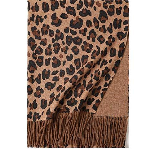 Scarf For Women100% Wool Print Leopard Print Double-Sided Shawl To Keep Warm Women Shawl Girl Scarf-02_190*70Cm