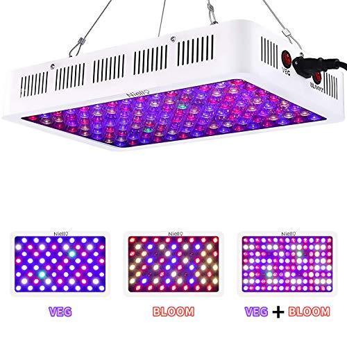 Niello Optical Lens-Series LED Pflanzenlampe 600W led Grow Light 12-Bands Full Spectrum Wachsen Licht led Wachstumslampe Pflanzenlicht für Zimmerpflanzen Gemüse und Blumen by