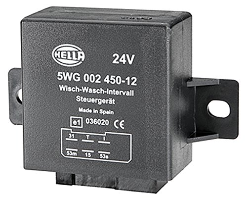 HELLA 5WG 002 450-121 relais, wiswas-interval, 24 V, met houder