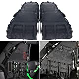 Roll Bar Storage Bag Cage with Multi-Pockets & Organizers & Cargo Bag Tool Kits Holder Compatible for 2007~2019 Wrangler JK Rubicon 4-Door - Pack of 2