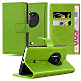Cadorabo Book Case Compatible with Nokia Lumia 1020 in Grass Green - with Magnetic Closure, Stand Function and Card Slot - Wallet Etui Cover Pouch PU Leather Flip
