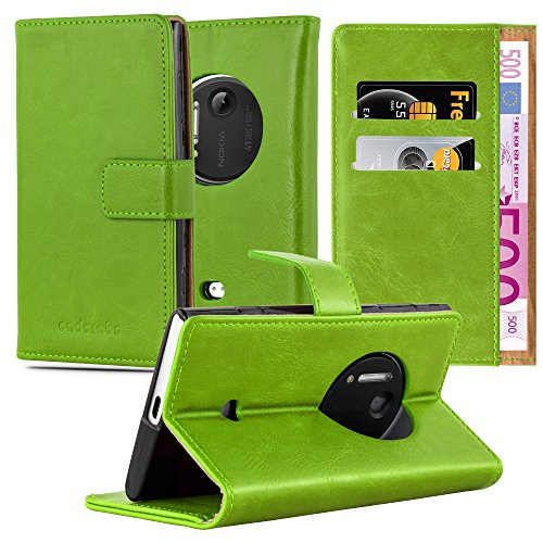Cadorabo Custodia Libro per Nokia Lumia 1020 in Verde Erbe - con Vani di Carte, Funzione Stand e Chiusura Magnetica - Portafoglio Cover Case Wallet Book Etui Protezione