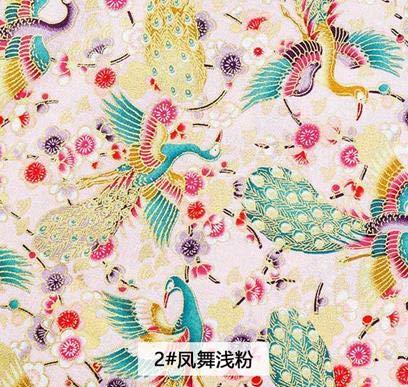 YFB Bronze Baumwollstoff Kimono-Stoff im japanischen Stil fürKleidungsstücke und Frauenkleidersowie DIY-Tasche TJ8692-1 25X35cm kleines Stück 2