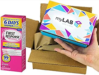 STD at Home Test for Women HIV, Chlamydia, Trichomoniasis (Trich) and Gonorrhea (4 Panel) Bundled with First Response Early Result Pregnancy Test (3 Tests)