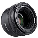 YONGNUO YN50mm F1.8N Manual Focus Lens Standard Prime Lens Large Aperture FX DX Compatible with Nikon DSLR Cameras