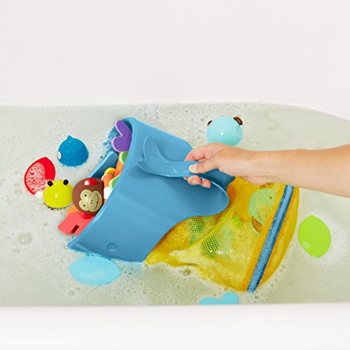 Skip Hop Moby Scoop & Splash Bath Toy Storage, Blue