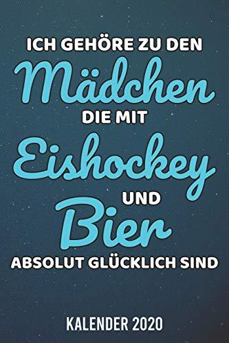 Kalender 2020: Eishockey Mädchen Bier A5 Kalender Planer für ein erfolgreiches Jahr - 110 Seiten