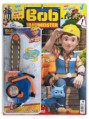 Bob der Baumeister Sammelmagazin 11/2019 inkl. Rätsel Comic Poster und Cooler Spielzeug Kettensäge