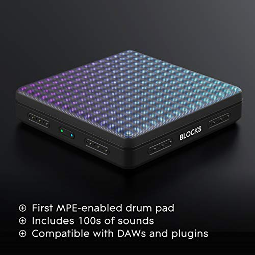 ROLI Lightpad Block M Studio Edition Super Powered Drumpad Compose & Produce Faster with an Illuminated, Touch-Responsive Pad Controller.Play Beats, Control Effects & More Software Included