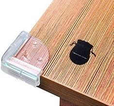 INNOVATION FACTORY コーナーカバー コーナーガード l型 樹脂 透明 赤ちゃん おしゃれ かわいい クッション 家具 幕板 笠木 壁 机 角 本棚 怪我 保護 8個セット (笑顔, クリアー)