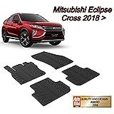 MYD Juego de alfombrillas de goma para Mitsubishi_Eclipse Cross 01.2018 Vehículos con volante a la izquierda, alfombrillas de goma para todas las estaciones (delantera y trasera)