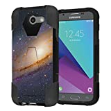 Capsule Case Compatible with Galaxy J3 Prime, J3 Emerge, J3 Luna Pro [Shockproof Combat Kickstand Case Black] for Samsung Galaxy J3 Prime, J3 Emerge, J3 Luna Pro - (Space Milkyway)