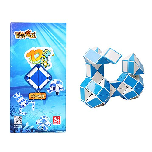 Wings of wind - Regla Mágica de la Sección 72 Esférica Magic Snake Twist Puzzle (Azul)