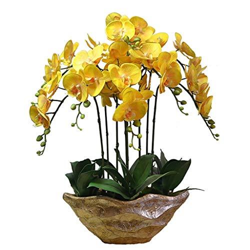 Bloemen kunstzijden bloemen simulatie Phalaenopsis Bonsai decoratie potplanten set voor hoofddecoratie ornament kunstbloem