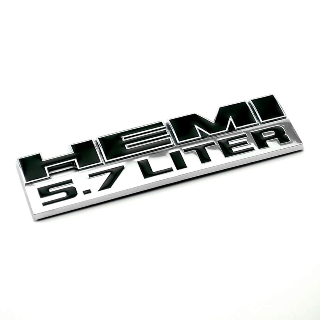 2x RAM 5.7 Liter Hemi 3D Logo Decal Emblem Replacement for Badge Sticker Dodge Charger Ram 1500 Challenger Jeep Grand Emzscar