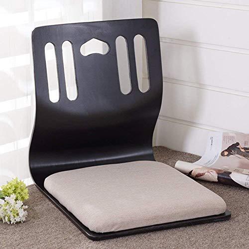 Tatami Room Chair Silla con Respaldo para Dormitorio Silla sin Patas Japonesa Silla con Respaldo Bay Window Silla Perezosa