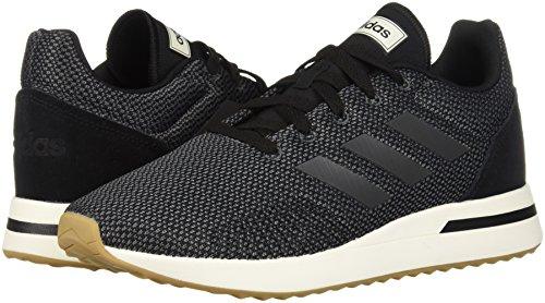 adidas Men's Run70S Running Shoe, Black/Grey/Carbon, 10 M US