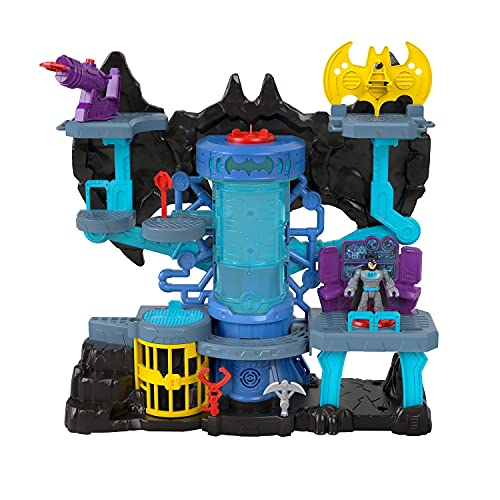 Fisher-Price Imaginext DC Super Friends Bat-Tech Batcave, Batman playset with lights and sounds for kids ages 3 to 8 years