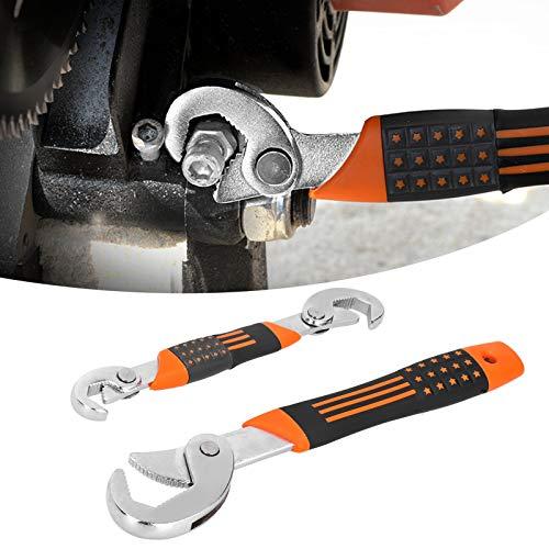 Llave 2 Unids/set Llave de tubo de agarre antideslizante multifunción Herramienta de mano Llaves de apertura rápida ajustables