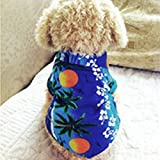 WooDog Cat T Shirt Pet Clothing Shirt Puppy Clothes Summer Apparel Beachwear Outfit XL