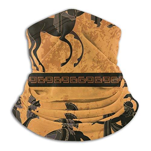 Antike Griechenland Szene Schwarze Figur Keramik Griechische Mythologie Zentaur Menschen Götter Olymp Klassik Fleece Halswärmer Männer