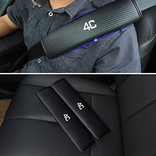 Saxonj 2 Piezas Coche Asiento Cinturón Proteccion Cubiertas para Alfa Romeo 4C, Auto La Seguridad H