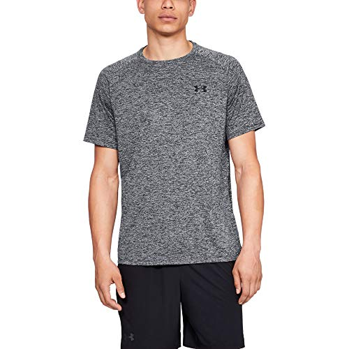 Under Armour Ua Tech Tee 2.0 Camiseta de manga corta, Hombre, Negro (Grey/Black 002), LG