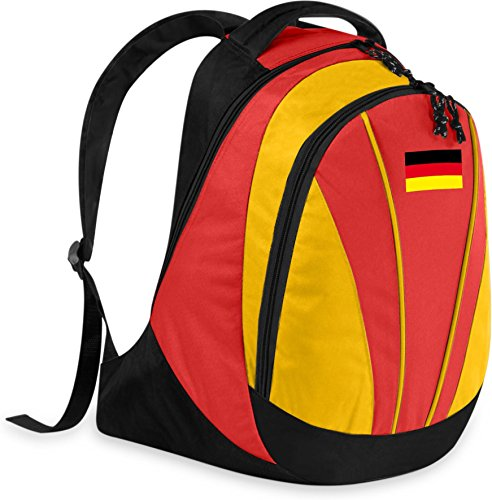 Gear Up Fan Rucksack mit Länderflagge Farbe Deutschland