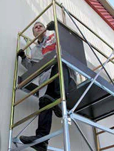 Wurth trabattello Altura 4.15 MT trabajo Mod. hd-678 – 03 de acero galvanizado Andamio Mobile: Amazon.es: Bricolaje y herramientas