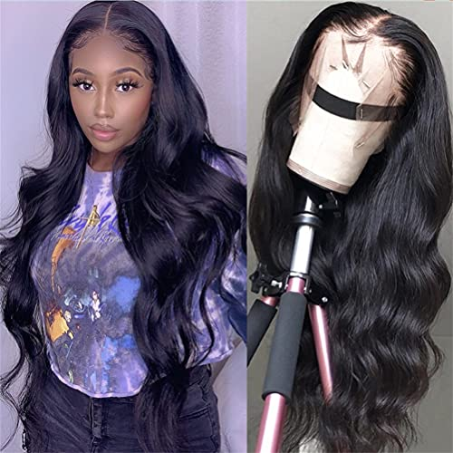 Body-Wave Lace Front Wigs Human-Hair - Body Wave 13X4 Wig Pre-Plucked 150% Density Lace Frontal Human Hair Wigs Brazilian Straight Lace Wig for Black Women (13x4 Body Wave Lace Front Wigs 20 Inch)