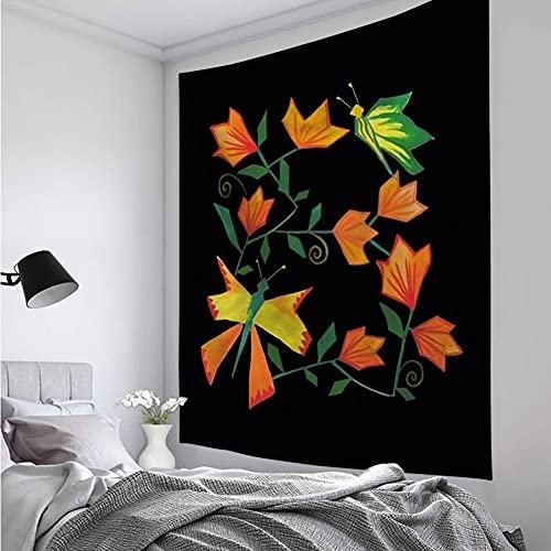 KHKJ Tapiz Creativo Alfabeto Animal Tapiz Mandala psicodélico Boho decoración para Sala de Estar decoración de Pared A9 150x130cm