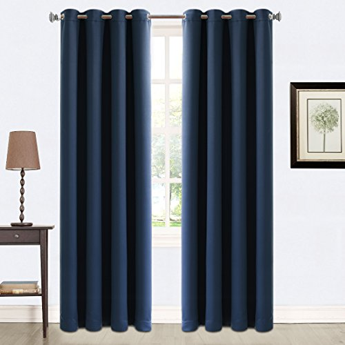 Balichun 2 Panels Blackout Eyelet Curtains Soft...