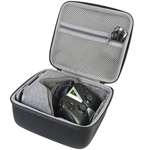 co2crea Hard Travel Case Compatible with Google Daydream View VR Headset (Black + Grey)