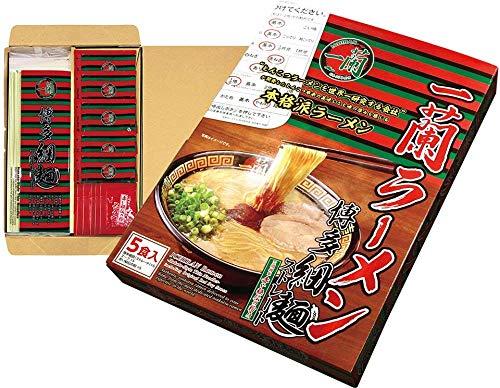 Ichiran Ramen Hakata-artige Tonkotsu-Suppe mit feinen geraden Nudeln und Ichirans spezieller geheimer roter Trockensauce - 5 Mahlzeiten - aus Japan