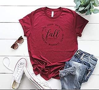cute women's tee women's fall t-shirt thanksgiving t-shirt hello fall tee cute fall outfit fall top