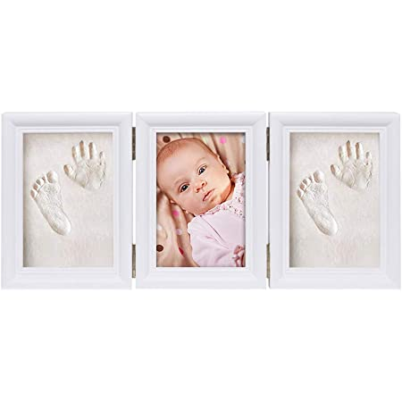 Baby Art My Sweet Print Cadre photo en bois avec kit empreintes de b/éb/é id/ée cadeau originale pour naissance cadre photo pour bapt/ême couleur bois