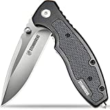 STEINBRÜCKE Steinbrucke Pocket Knife Everyday Carry Knife - Folding Knife 3.4'' Sandvik 14C28N Blade; G10 Aluminum Handle with Reversible Pocketclip for Camping Outdoor and Everyday Carry, Men Gifts