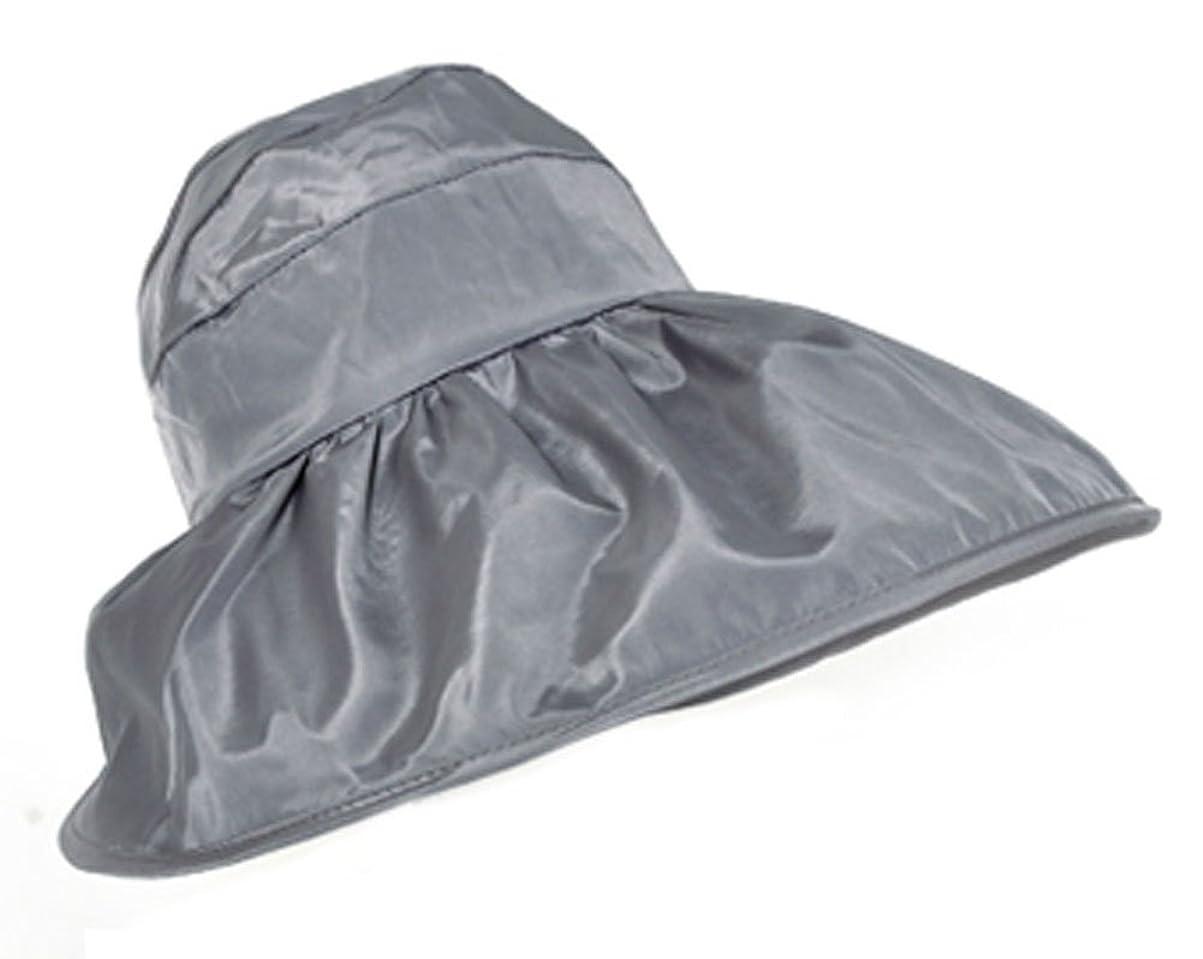 タンカー曇った構成FakeFace 夏 レディース 帽子 UVカット サンバイザー 紫外線対策 日よけ帽子 つば広 オシャレ ケープ ハット 日よけ 折りたたみ 防水 カジュアル 海 農作業 ぼうし サイズ調節可