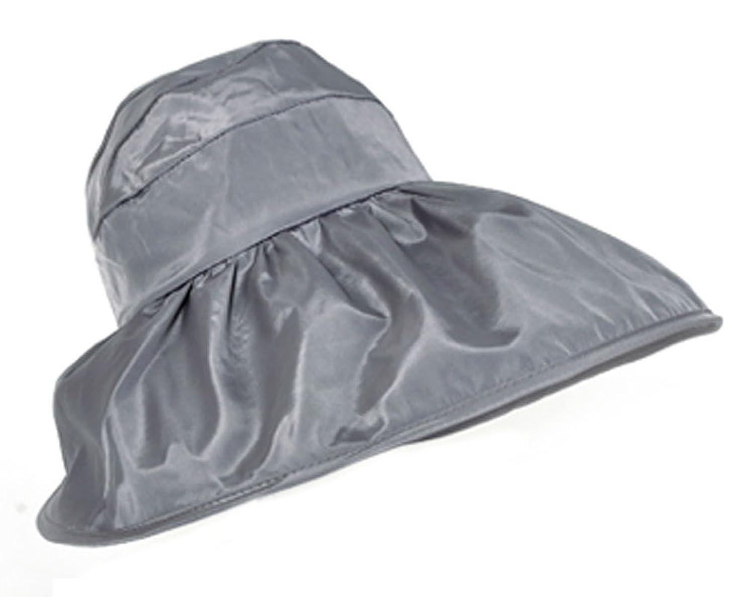 高めるアラブ人毎日FakeFace 夏 レディース 帽子 UVカット サンバイザー 紫外線対策 日よけ帽子 つば広 オシャレ ケープ ハット 日よけ 折りたたみ 防水 カジュアル 海 農作業 ぼうし サイズ調節可