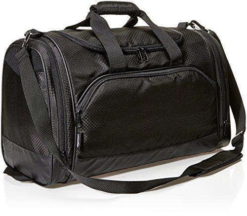 Amazon Basics Medium Lightweight Durable Sports Duffel Gym and Overnight Travel Bag - Black