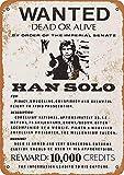 CDecor Han Solo Wanted Poster Blechschilder, Metall Poster,