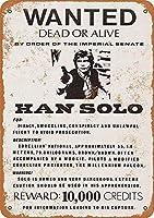 Han Solo Wanted Poster ティンサイン ポスター ン サイン プレート ブリキ看板 ホーム バーために
