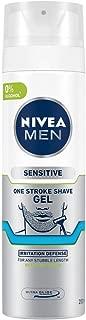 Nivea Men Shaving Gel, Sensitive One Stroke Shave, 200ml