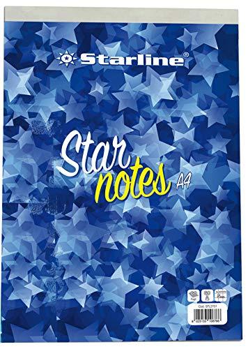 Starline stl2701 Blocco Note A4, 21 x 29.7 cm, 5 mm, 60 gr, 60 Fogli, confezione 10 pezzi