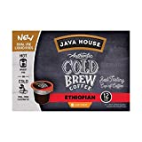 JAVA HOUSE Cold Brew Coffee, Ethiopian Light Roast, Enjoy Hot or Iced, K Cup Coffee Concentrate Liquid Pods (12 Count)