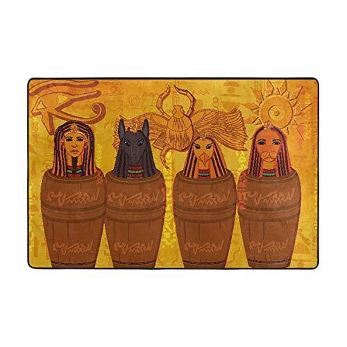 NA Alfombra de área Antigua Cultura egipcia Antideslizante Alfombra de Confort alfombras...