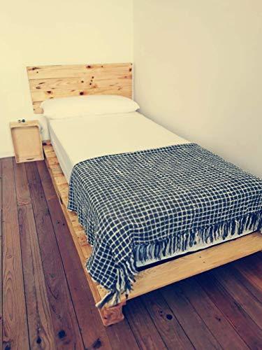 potente para casa Camas-palet de madera lacada para colchones 105x 180, 190, 200 – Somier & Somieres &…